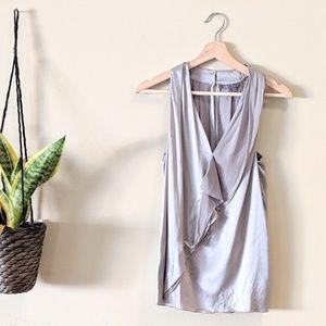 VINCE Silk Cascade Halter Blouse Size Small